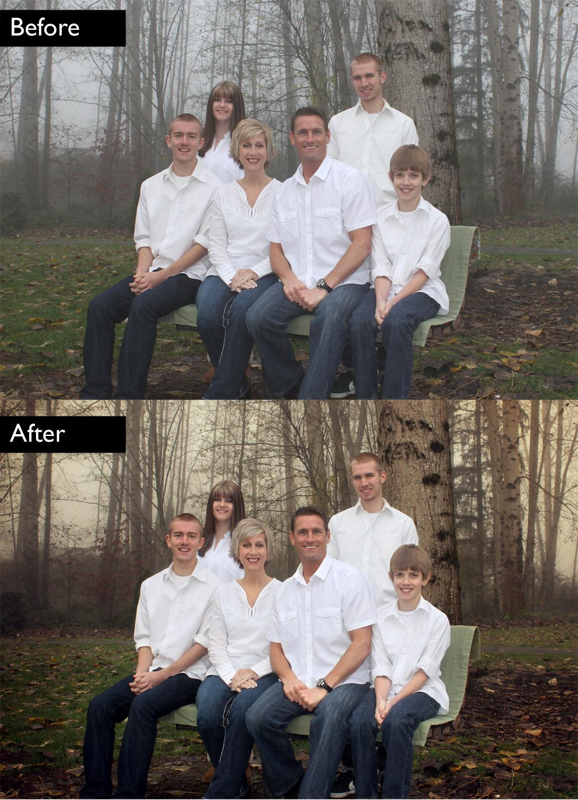 Family Photo Color Correction