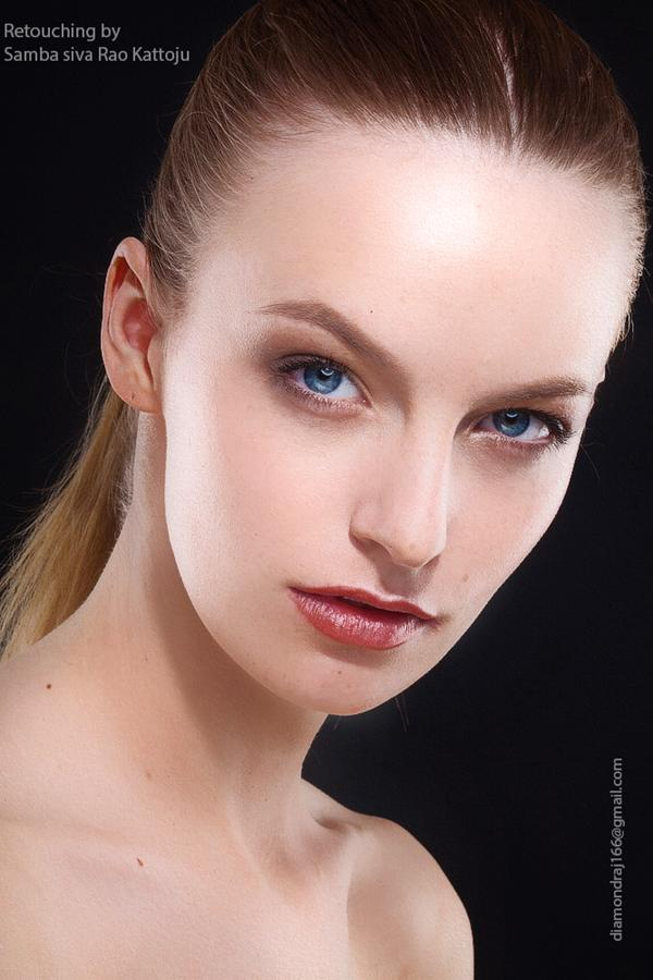 My recent retouch to to the beauty of model mayhem.com