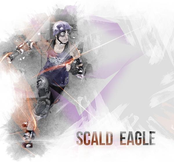 Rose City All-Star Roller Derby Jammer Scald Eagle