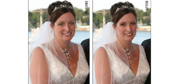 Retouch bridal make-up, photo retouching by make-up artist