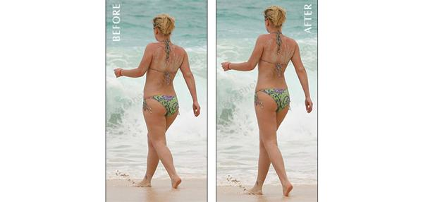 Photo editing Long torso, short legs Enhance body shape to look proportionate